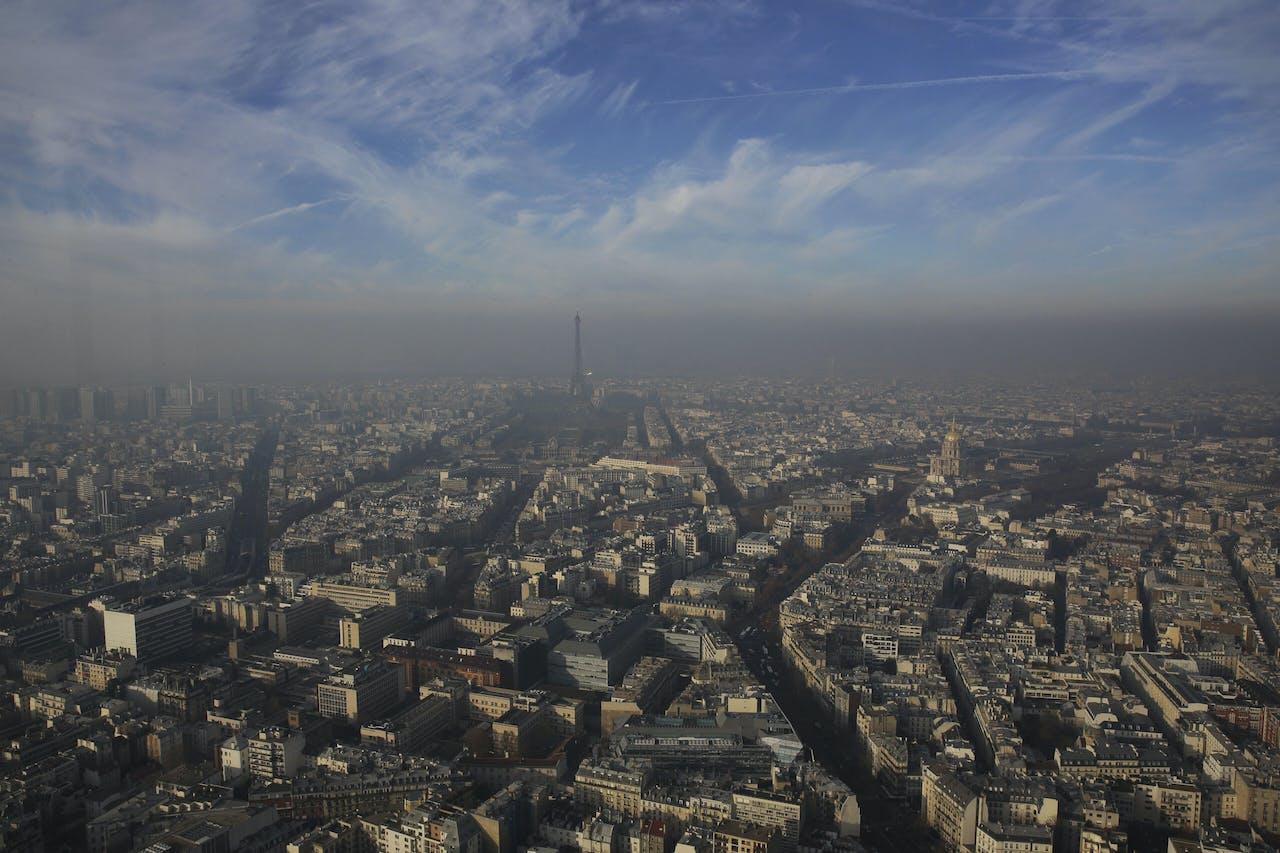 Smog boven Parijs.
