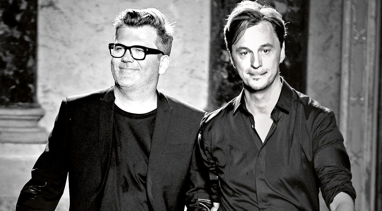 Tom Notte en Bart Vandenbosch (rechts)