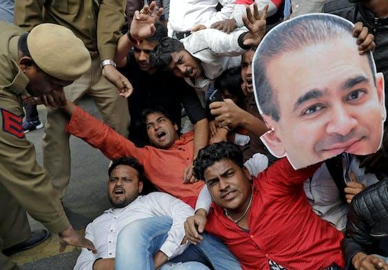 Drie Mensen Opgepakt Voor Miljardenfraude Indiase Bank