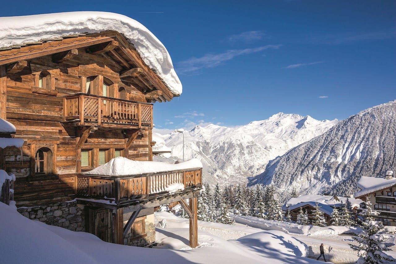 Chalet-appartementen in de Franse Alpen.