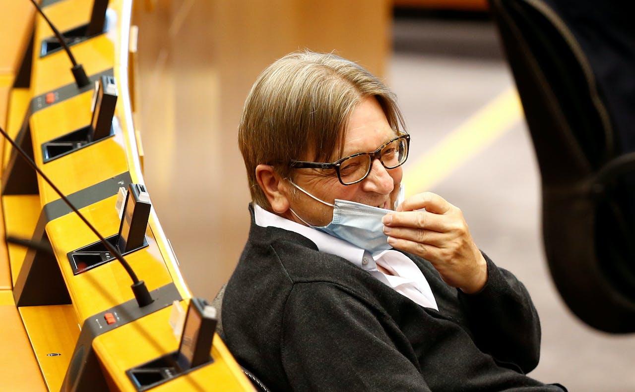 Guy Verhofstadt, de prominente liberale Europarlementariër.