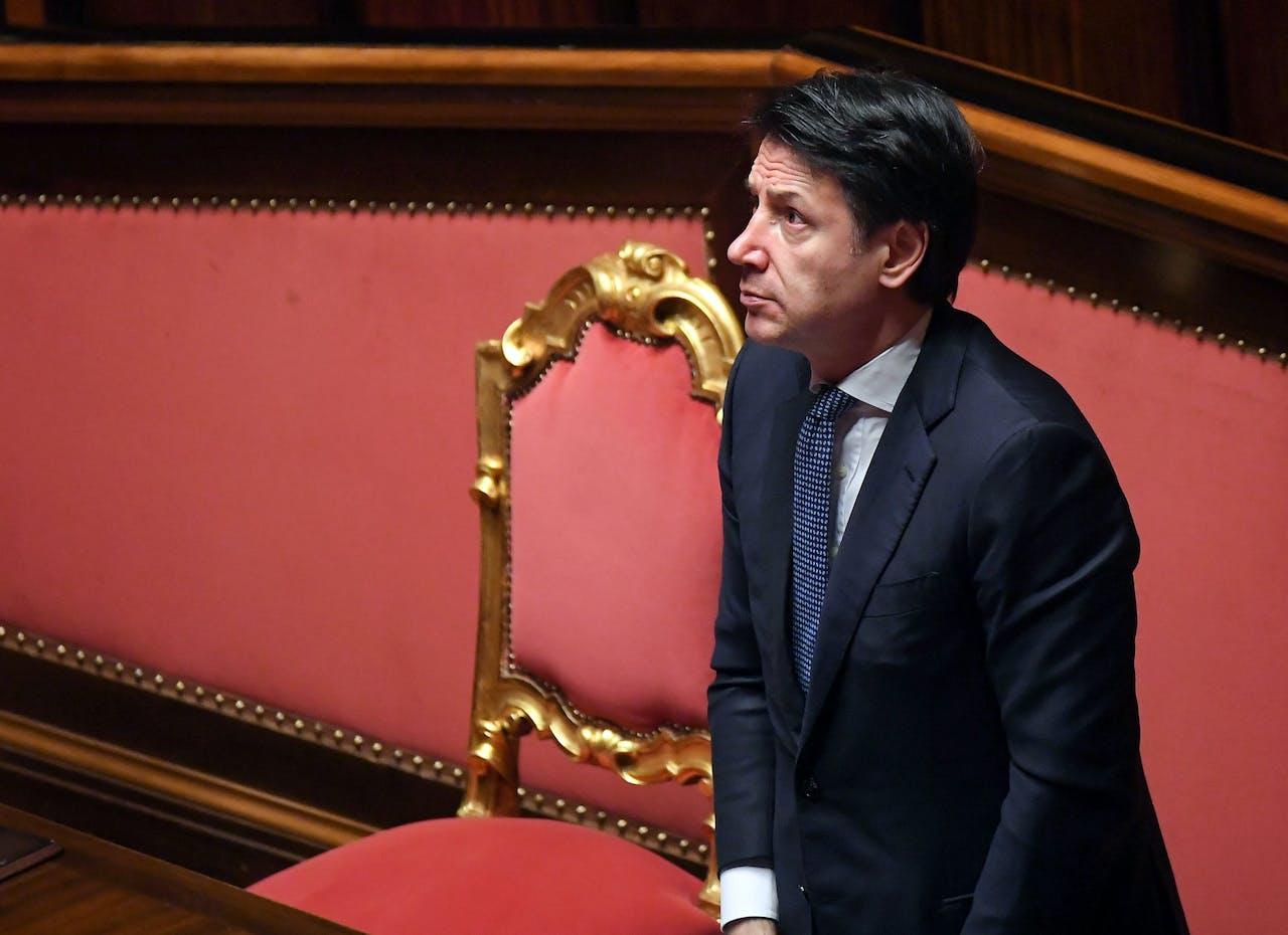 De Italiaanse premier Giuseppe Conte.
